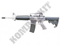 Colt M4-A1 Combat Rifle Official Replica Airsoft BB Gun Black and Clear